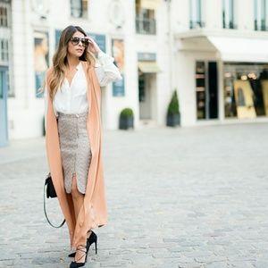 J. CREW Zip-front pencil skirt in sparkle tweed